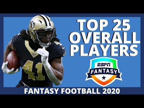 2020 Fantasy Football Rankings - Top 25 Overall Fantasy Football Players