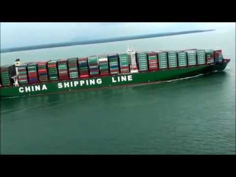 CSCL Globe Maiden Voyage to Port Klang, Malaysia on 20th Dec. 2014
