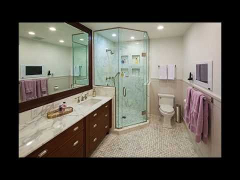Small bathroom corner shower designs