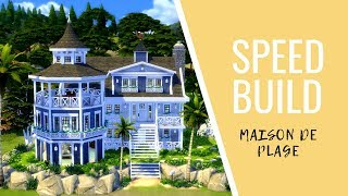 Les sims 4 - Speed Build //MAISON DE PLAGE 🌴