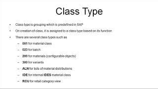 SAP MM Malzeme Ana veri, Veri sınıflandırma