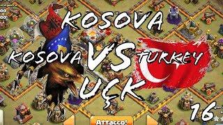 KOSOVA VS turkey clash of clans UÇK
