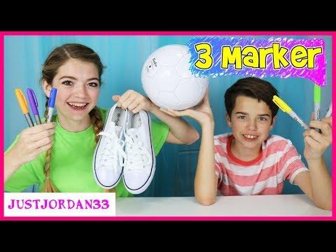 3 Marker Shoe And Soccer Ball Challenge / JustJordan33