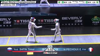 Wuxi 2018 Fencing World Championships mf t08 FRA vs RUS