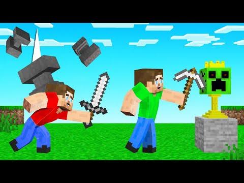 HUNTERS vs SPEEDRUNNER With ANVIL RAIN! (Minecraft)
