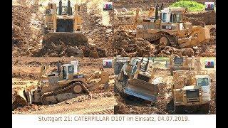 Stuttgart 21: [70 t Heavy Weight] CATERPILLAR D10T, VINCI, 04.07.2019.