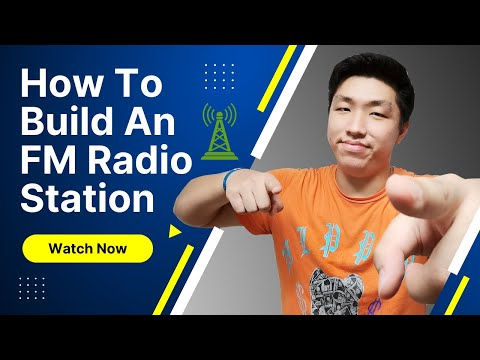 How to build FM Radio Station with FM transmitter in 15 minu