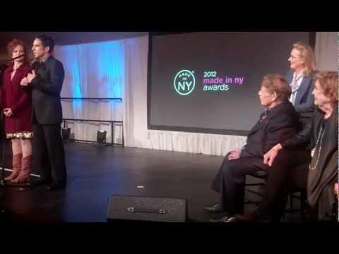 Made in New York Awards- Ben Stiller and Amy Stiller present Lifetime Achievement Award to Parents