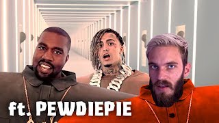 Kanye West & Lil Pump - I Love It (but PewDiePie is rapping)