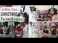 DIY Dollar Tree Christmas Farmhouse Decor   3 Rustic Christmas Decor   Dollar Tree Christmas 2018