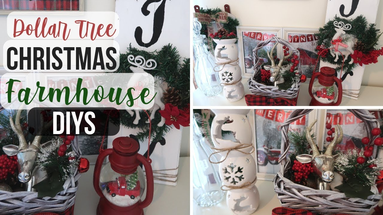Diy Dollar Tree Christmas Farmhouse Decor 3 Rustic Christmas Decor Dollar Tree Christmas 2018 Youtube