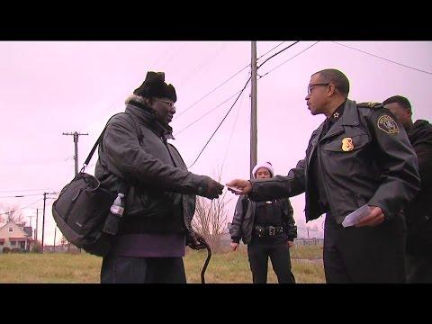Detroit's Police Chief Plays Secret Santa