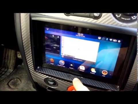 Blackberry Playbook in car's dash