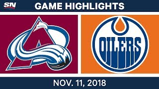 NHL Highlights | Avalanche vs. Oilers – Nov. 11, 2018