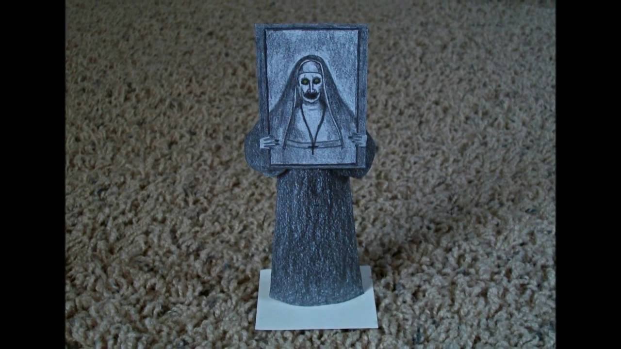 Papercraft Paper Model of the Demon Nun (Valak) from the Movie
