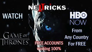 How To Watch HBO Now For Free Plus FREE ACCOUNTS 2018