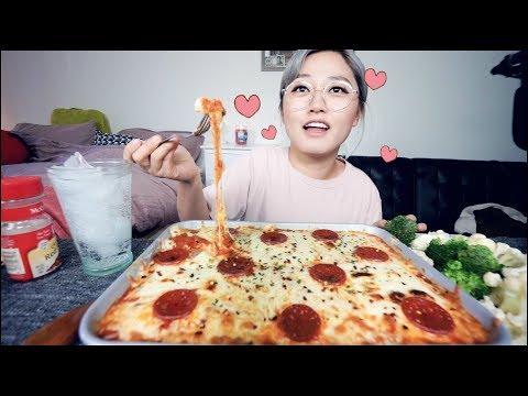 How to Make Pepperoni Cheese Pizza Dip/Fondue Recipe Mukbang! | KEEMI★
