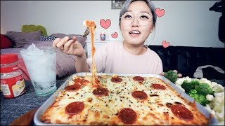 How to Make Pepperoni Cheese Pizza Dip/Fondue Recipe Mukbang! | KEEMI★