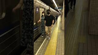 大阪メトロ、四ツ橋線の列車を撮影した