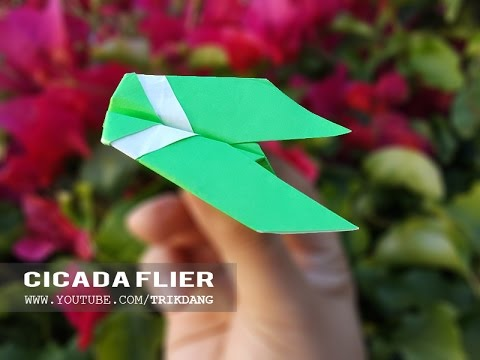 Papercraft Origami for Kids: How to make a SIMPLE paper airplane that FLIES | Cicada Flier