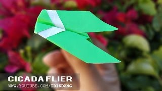 ORIGAMI PAPER PLANE  - How to make an EASY paper airplane that flies | Cicada Flier