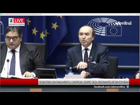 Declarația ministrului Justiției, Tudorel Toader, în Parlamentul European