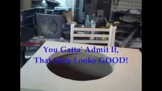 Worst Way To Cut A Speaker Hole - Ported 100 MPH Car Audio Sub Box Install 18 inch Ascendant Mayhem