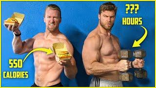 How Hard Is Iт To Burn Off a Big Mac using Bodybuilding? | Food vs Fitness
