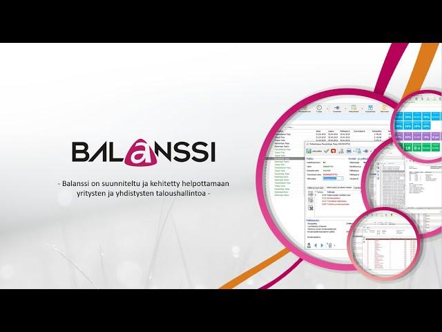 Balanssi sähköinen taloushallinto – Kirjanpito, laskutus, ostoreskontra sekä palkanlaskenta