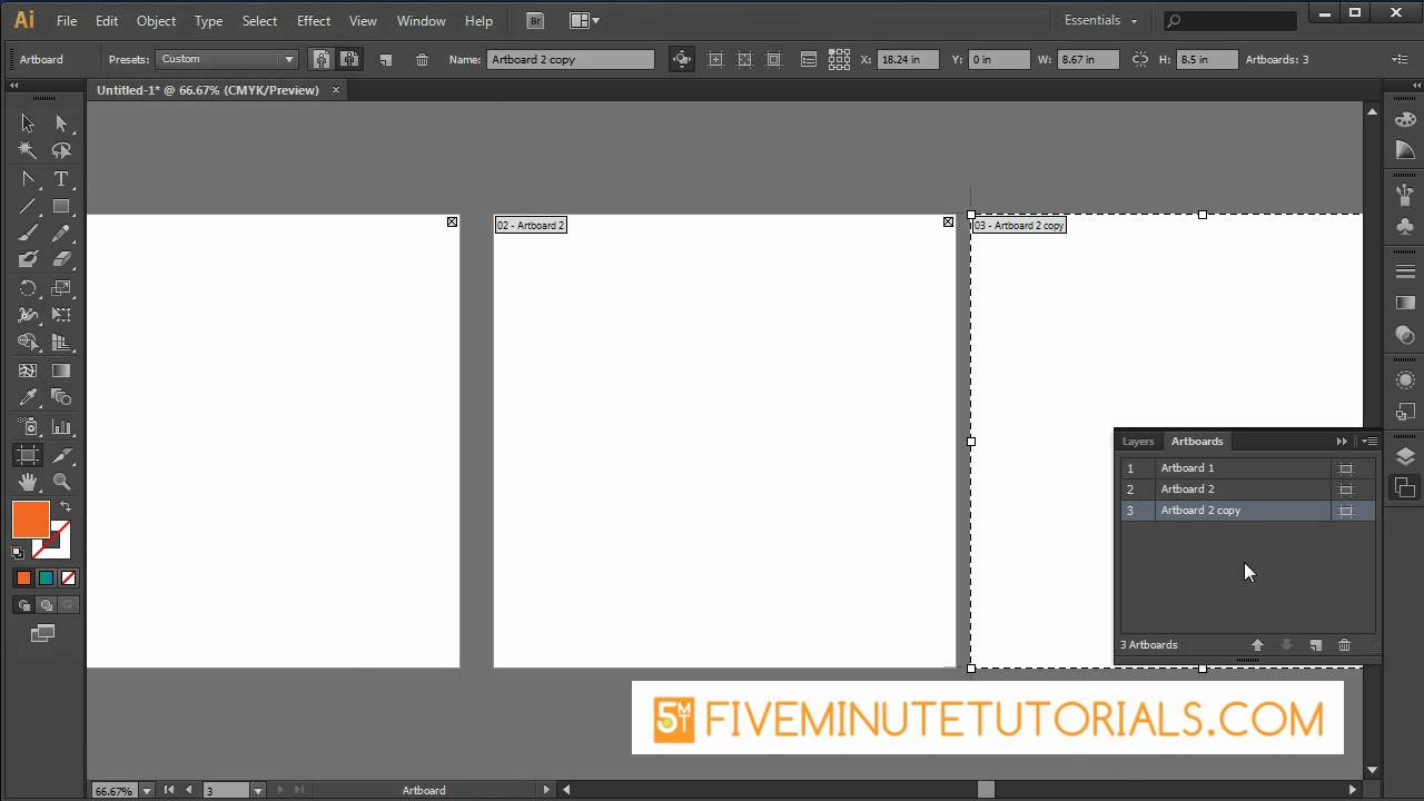 Adobe Illustrator CS6 Art Board Tool
