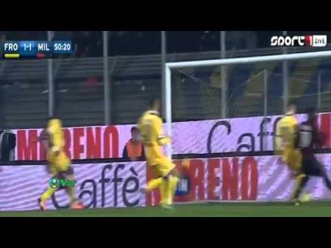 Ignazio Abate Goal   Frosinone vs Milan 1 2   Serie A 20 12 2015