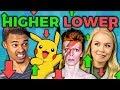 HIGHER or LOWER GAME (React: Gaming)
