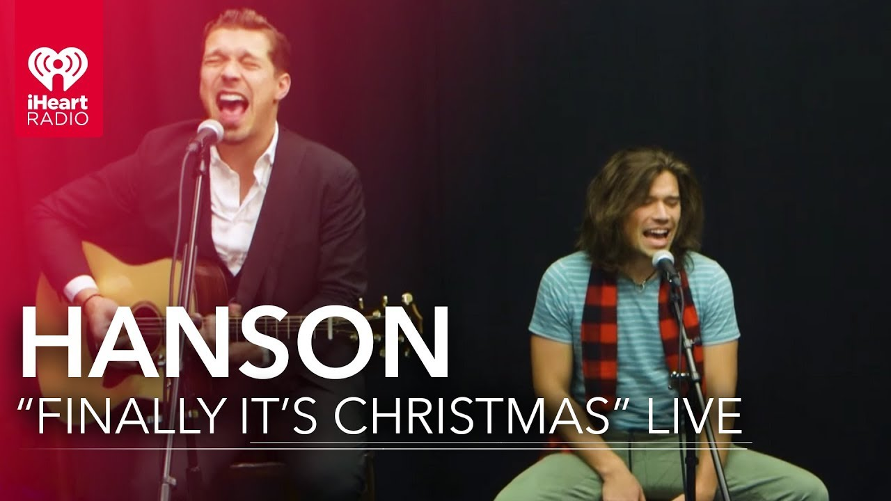 hanson performs finally its christmas iheartradio live sessions