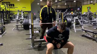 160kg (352.7 pounds) Triceps Close Grip Bench Press