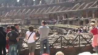 Video tour of The Colosseum, Rome Italy
