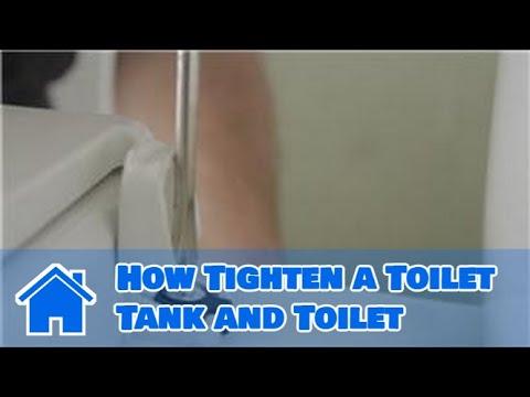 Plumbing Advice How Tighten A Toilet Tank And Toilet Youtube