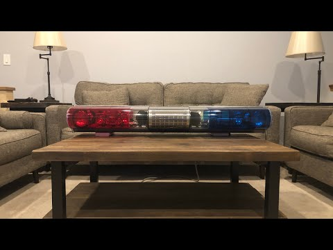 Federal Signal AeroDynic 24EAH Light Bar, TPD Spec (tampa Police Department Red Blue Aero Lightbar)