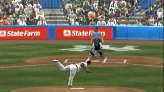 MLB 2K9 (Xbox 360) Gameplay Yankees vs. Redsox (New Yankee Stadium)