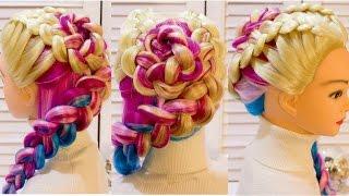 Прическа с плетением  Косы для дочки  Braided hairstyle
