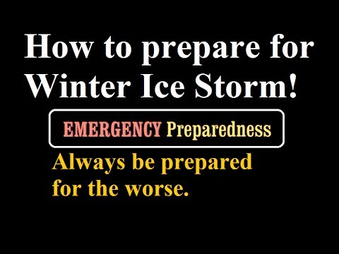 Part I: How to Prepare for Power Outage in the Winter Storm- Emergency Preparedness- Be Ready!