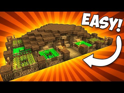Simple & Compact FARM HOUSE! - Minecraft Tutorial
