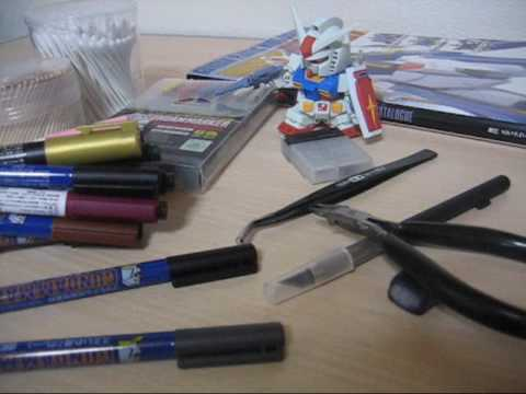How to build Gundam - Tools - All you need to build plastic models ガンプラ
