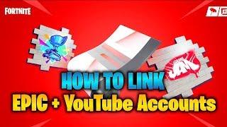 Wie Sie Ihre Epic + YouTube-Konten für KOSTENLOSE Belohnungen AUFSTELLEN! (Fortnite)
