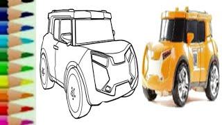 Tobot X Car Evolution Transformers RTV - Belajar menggambar kartun mobil 🤖 lucu untuk anak - 또봇 toy
