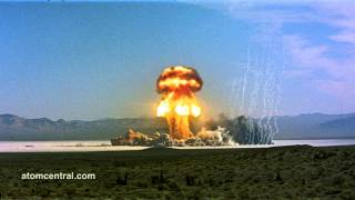 Atomic Bomb explosion - wide shot