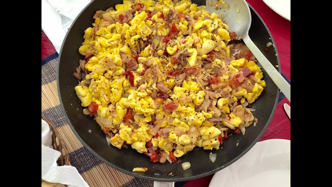 How to cook fresh picked ackee youtube for Salt fish ackee