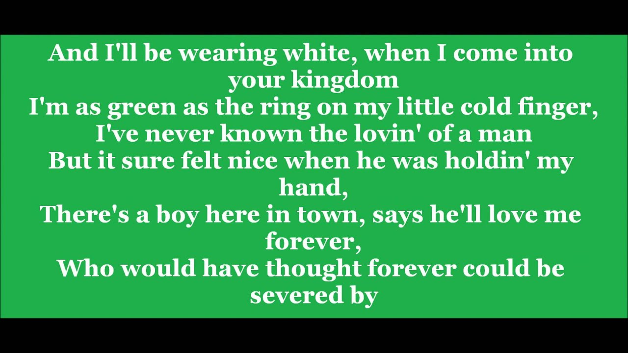 If i die young by the band perry lyrics