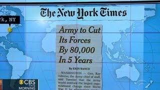 Headlines: Army cutting 80,000 active duty troops over next five years