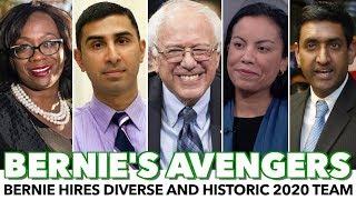 Bernie Assembles Diverse And Historic 2020 Campaign Team Sources: theatlantic.com/po litics/archive/2019/02/bernie- sanders-democratic-frontrunner -president/583066/  ..., From YouTubeVideos