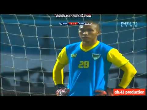 sunarto goal - arema vs pbr  3-1  (piala jendral sudirman)